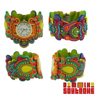 Although I don't like beaded wrist watches, the soutache watches are awesome exceptions. And I want some! :)