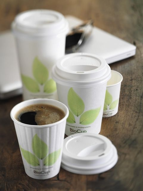 BioPak catering. Compostable carbon neutral coffee cups available from Eco Office Supplies. www.ecooffice.com.au