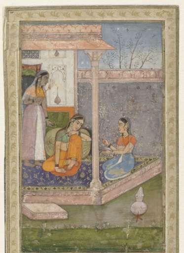Anoniem. Smartelijke prinses. Gouache, penseel in kleuren, India, Mogol-keizers, ca. 1600 - ca. 1650, Rijksmuseum