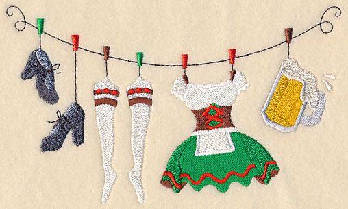 Oktoberfest Barmaid Clothesline