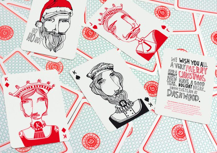 Dashwood- created a set of playing cards with illustrations of employees and their favourite typefaces. This was created as a Christmas gift for all their clients. Looks awesome!