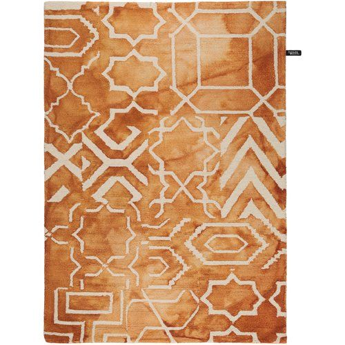 Benuta Dip Dye Handmade Wool Orange Rug In 2019