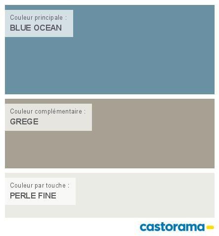 Castorama Nuancier Peinture - Mon harmonie Peinture  BLUE OCEAN mat de COLOURS Collection