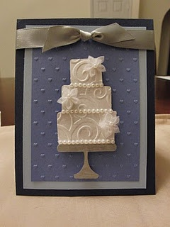 Wedding Card, love the muted colors and the added pearls!
