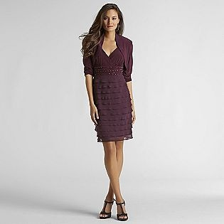 Light up the night in this eggplant colored jacket dress found at Sears
