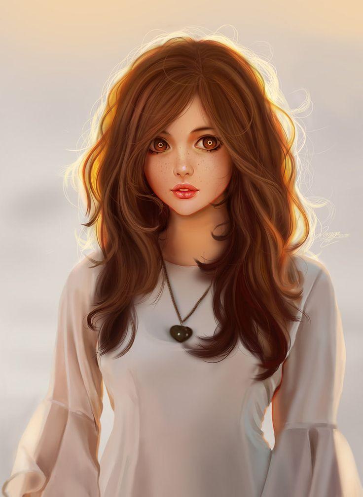 Красивые картинки арты девушек