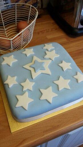 Charlie's christening cake