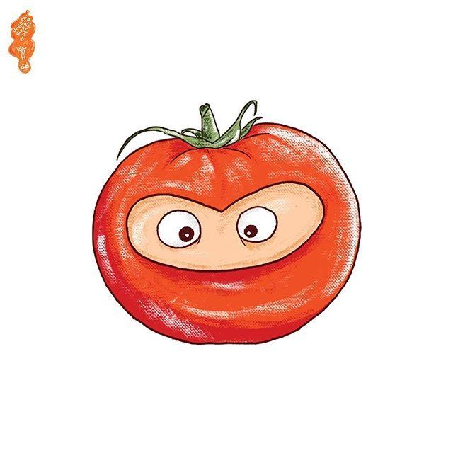 """1/6 Sticker Pack """"Vegetable Series"""" #StickerPack #Illustration #Vegetable #Garden #LatePost #DigitalIllustration #BreakTime120 #Art #Tomato"""