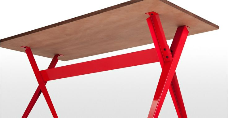 Graphix Desk in walnut and red £149| made.com #LetsColour