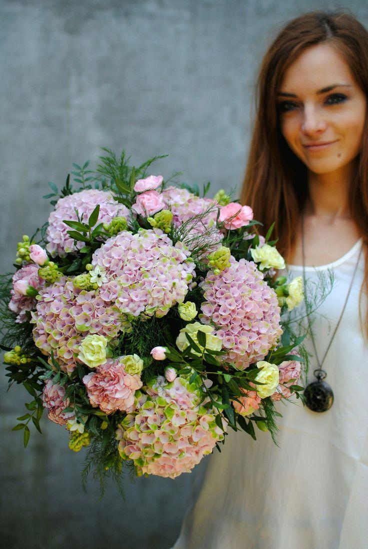 #bouquet #pastel #hydrangea #dianthus #ornithogalum