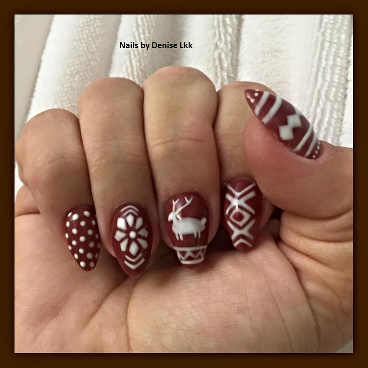 lcn gel nails - christmas