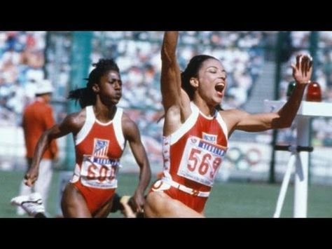 The sprinting records that still stand - Florence Griffith Joyner - Seoul 1988 Olympic Games - YouTube
