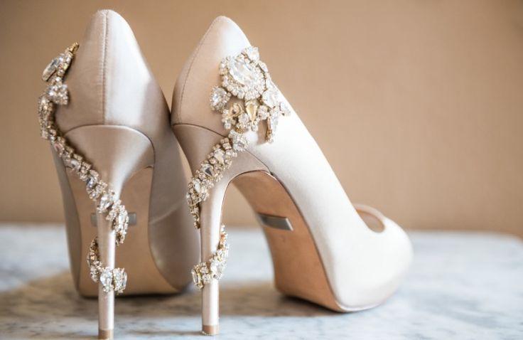 Badgley Mischka Wedding Shoes, Kelli + Daniel Taylor photography