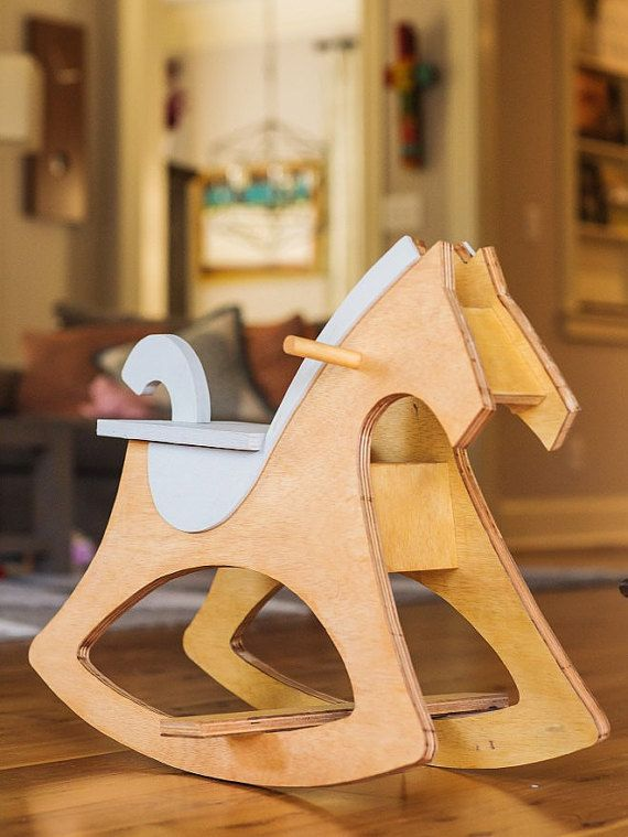 Modern Rocking Horse by TimberandInk on Etsy