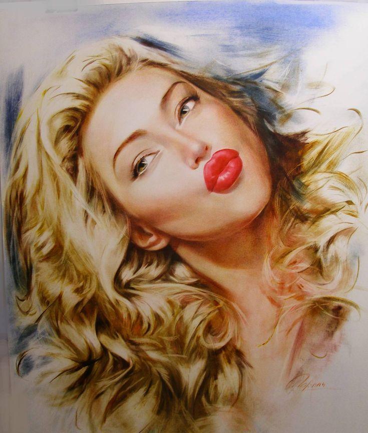 Портрет по фотографии. Блондинка - © Елена Горлач - Заказать Портрет по фото 1845