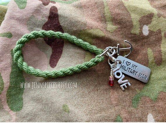 One Day Closer Boot BandBlouser Strap Bracelet Military Charms Military Bracelet