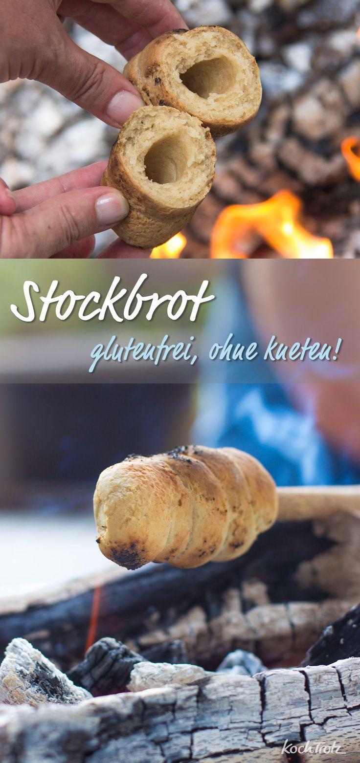 Wir lieben Stockbrot! Mein bestes glutenfreies Rezept ohne zu kneten. #stockbrot #g …   – KochTrotz.de ♥ meine Rezepte