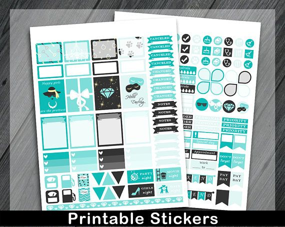 Printable Planner Stickers Glamour Planner Stickers Fashion