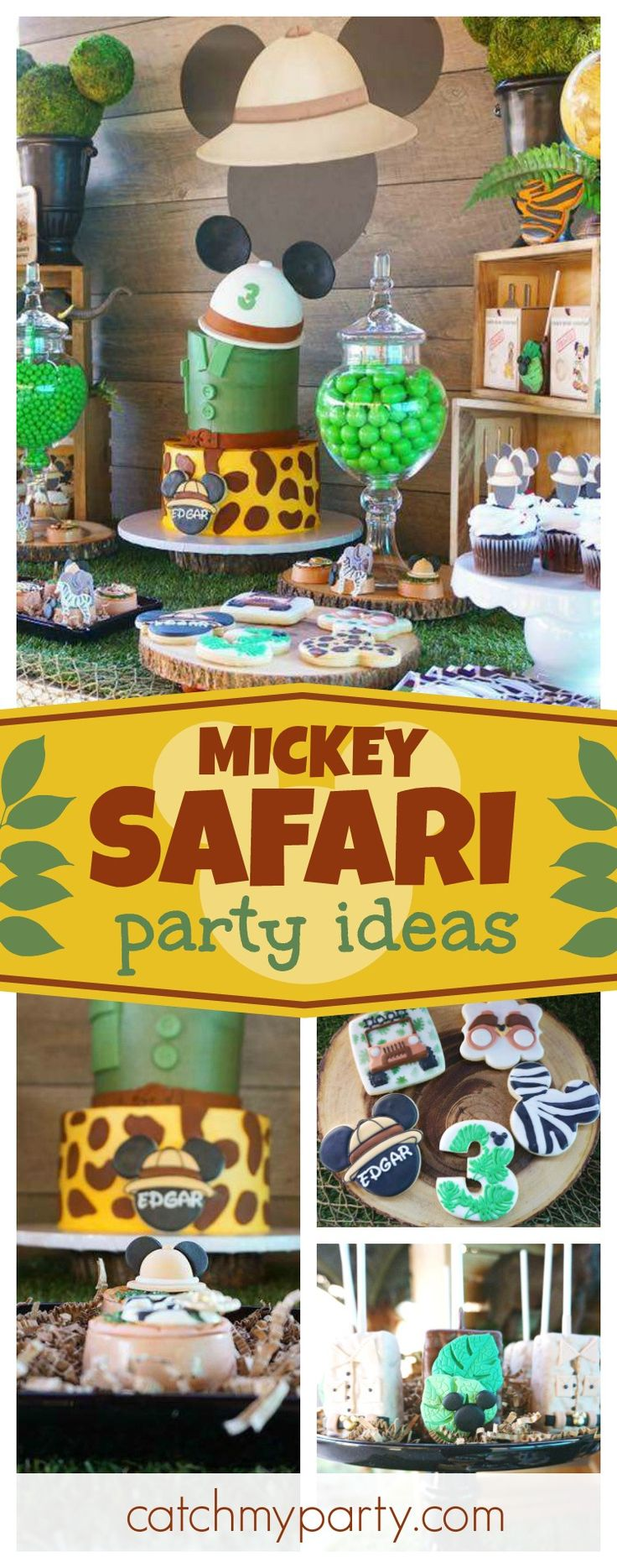 Make sure you see this awesome Mickey Safari birthday party! The birthday is so cool!! See more party ideas and share yours at CatchMyParty.com