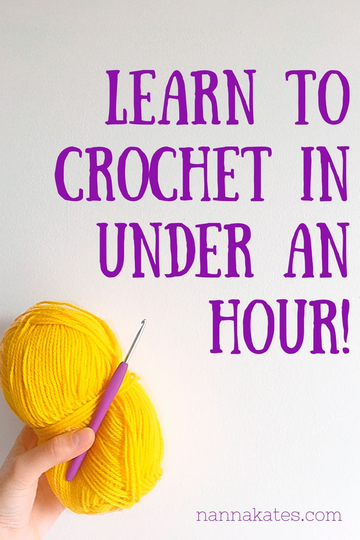 Learn to crochet in under an hour with these easy to follow video tutorials!
