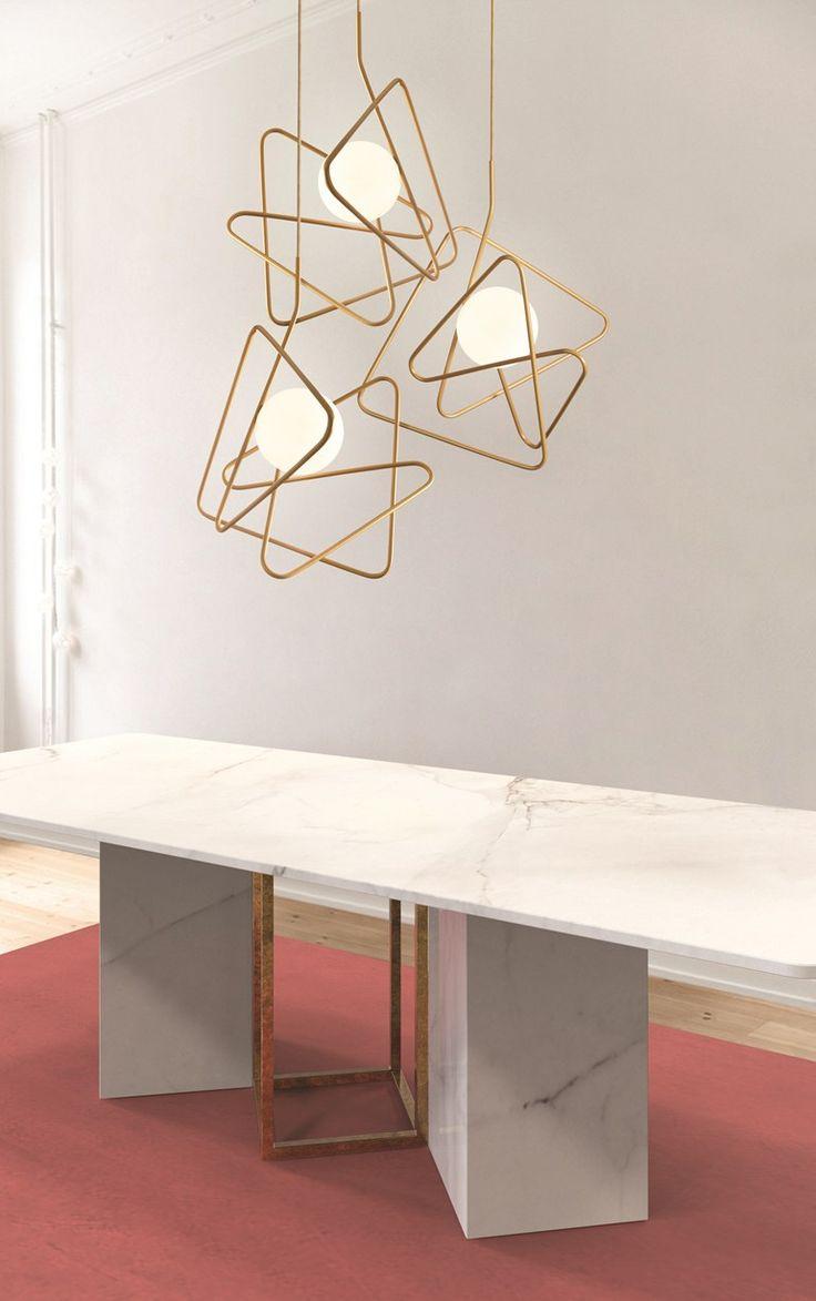 Powder coated steel pendant lamp INCIUCIO - Gibas