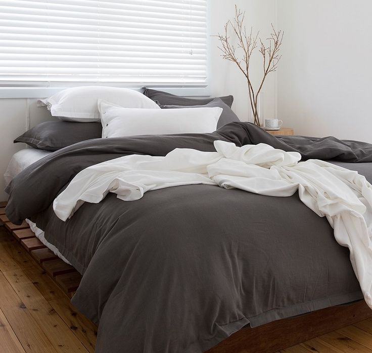 Slate grey bamboo bedlinen, what's not to love!