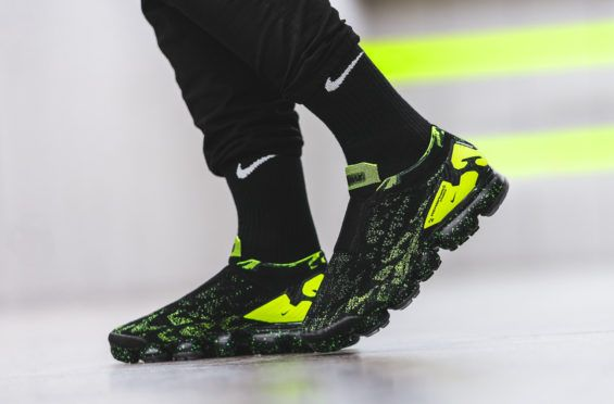 932208ca9b The ACRONYM x Nike Air VaporMax Moc 2 Black Volt Drops In A Couple Days With