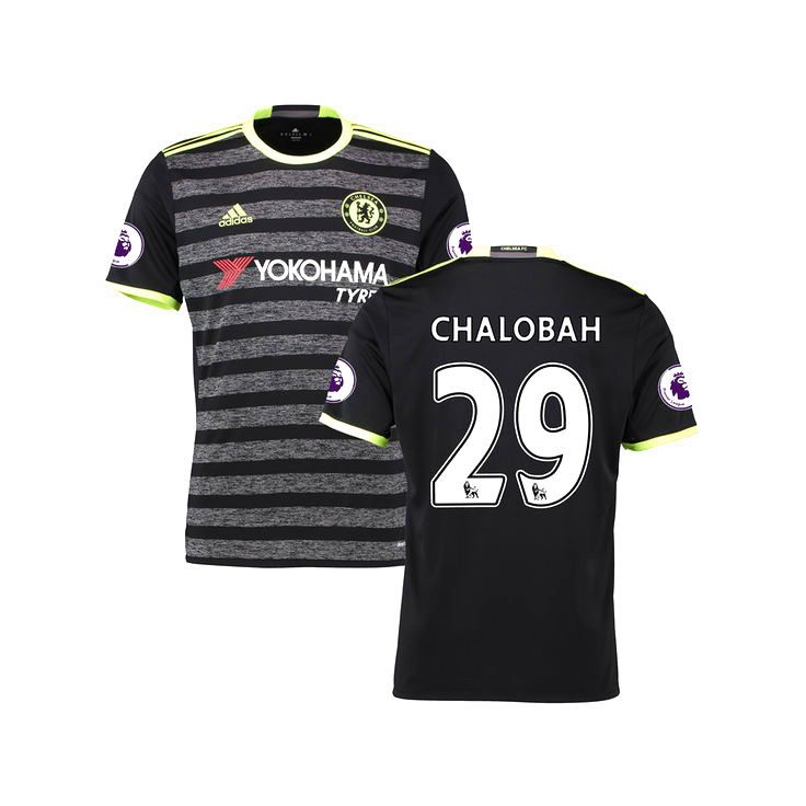 Nathaniel Chalobah Chelsea Youth adidas 2016/17 Away Replica Jersey - Black - $94.99
