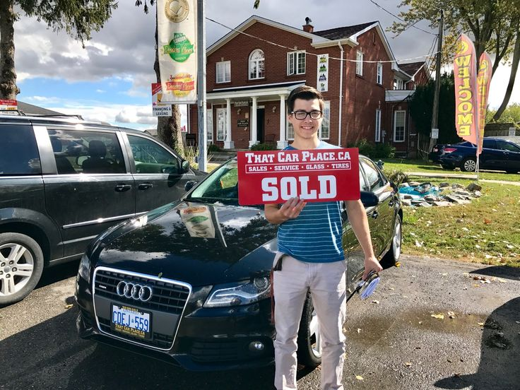 Noah Naegelle and his Audi A4...looking good! What an awesome car. Thanks Noah - we're sure you're gonna love it.