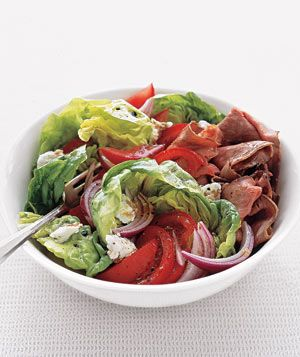 Roast Beef Salad With Goat Cheese and Balsamic Vinaigrette Recipe (only 350 calories per serving)