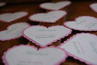 wedding favour tag