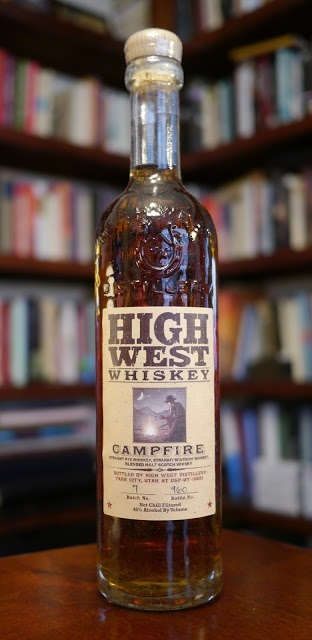 The High West Campfire--blend of Rye Whiskey, Bourbon Whiskey, and blended Scotch Whiskey