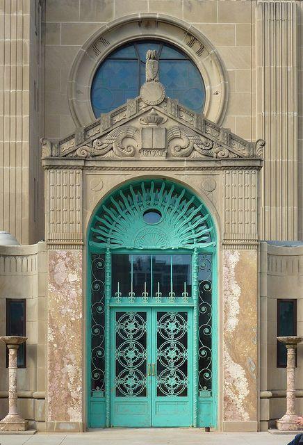 Chicago, IL Loyola University ~ Cudahy Library door