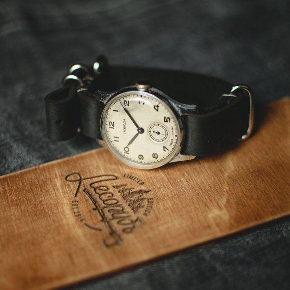 Mens watches vintage watch Pobeda watch wrist watch by Trulesorub