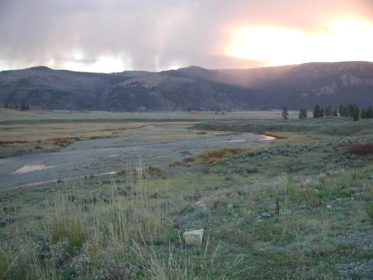 Soda Butte Creek.  Yellowstone National Park.Yellowstone National Parks