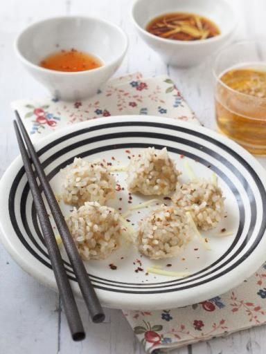 Boulettes de porc perlées (zhen zhu wan)