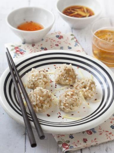 Boulettes de porc perlées (zhen zhu wan) : Recette de Boulettes de porc perlées (zhen zhu wan) - Marmiton