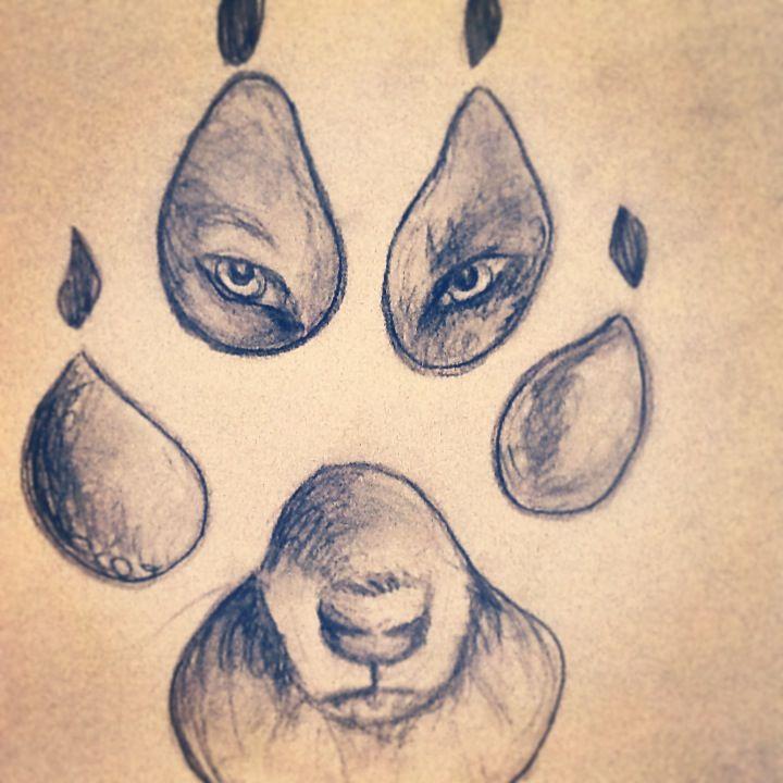 Love wolf drawings <3 a kelly ryan orig ;)