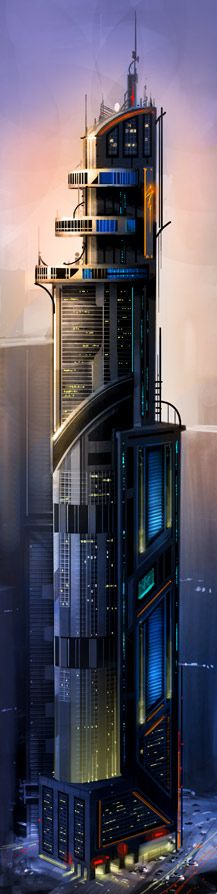 [Futuristic Architecture by Philip Straub, want to design something like it, someday.#architecture k]