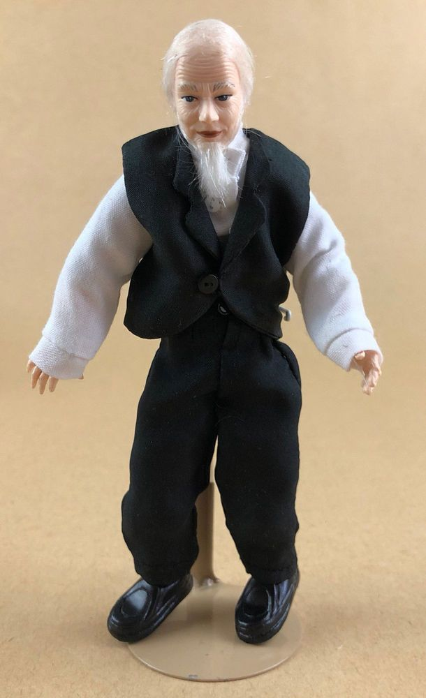 PORCELAIN GRANDPA  DOLL DOLL HOUSE MINIATURE