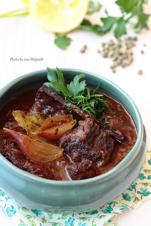 Stifado (greek beef stew) OMG, my most favorite food on the planet... Delicious beyond delicious...