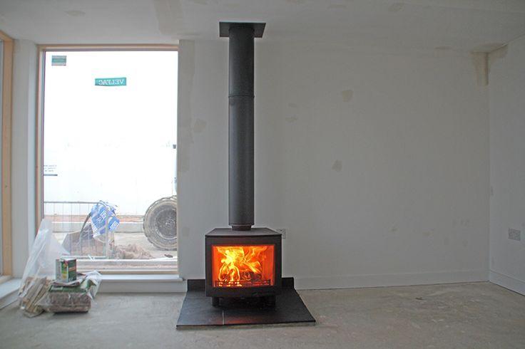 impressive wood burner new build house 2016