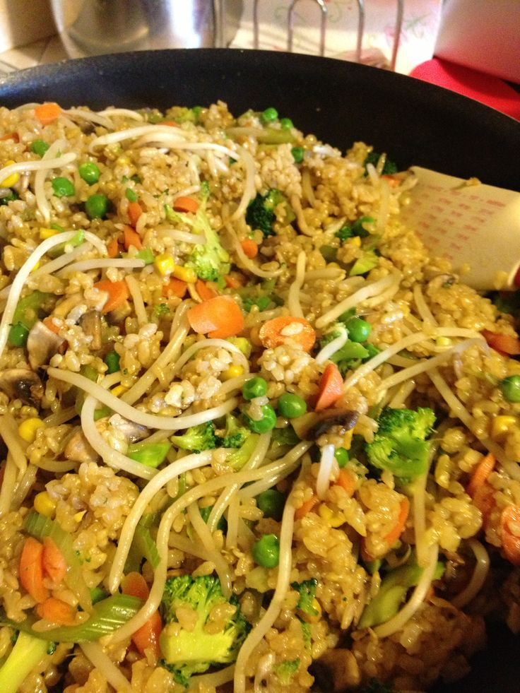 "Un-fried"" Fried Rice-use any veggies you like, just remember the ..."