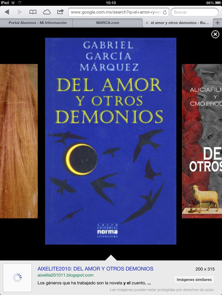Del amor y otros démonos . Gabriel García M.