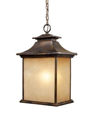 Artistic Lighting San Gabriel 1-Light Outdoor Pendant, Hazelnut Bronze