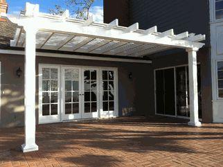 Pergolas, Patio Covers Gallery - Vinyl Fencing - Horse Fence & Privacy Fence - USA Vinyl Fence Company... Back deck pergola Architectural Landscape Design