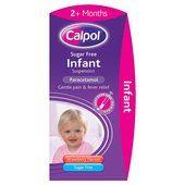 Calpol Infant Sugar Free Strawberry Liquid +2 Months at Ocado