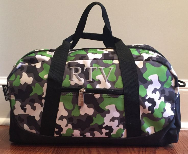 Monogramed Duffel Bag, Boys Overnite Bag, Kids Travel Bag, Sports Duffel Bag, Personalized Duffel Bag, Birthday Boy Gift, Boys Travel Bag, by RylasCorner on Etsy