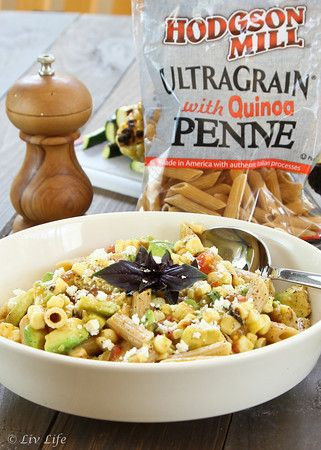 Grilled Tomato Pasta Salad - grilled corn, tomato, and avocado, and ...