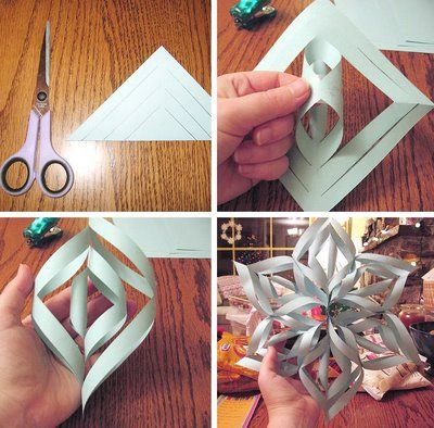 How to make a 3-D paper snowflake